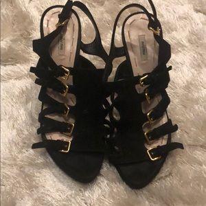 Miu Miu Black suede heels size7